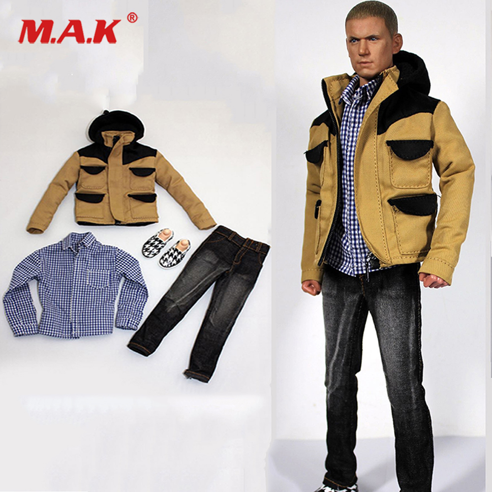 1/6 scale action figure doll Accessories Mens Clothing Jacket&Jeans&Plaid Shirt set for 12 Male man action figure body1/6 scale action figure doll Accessories Mens Clothing Jacket&Jeans&Plaid Shirt set for 12 Male man action figure body