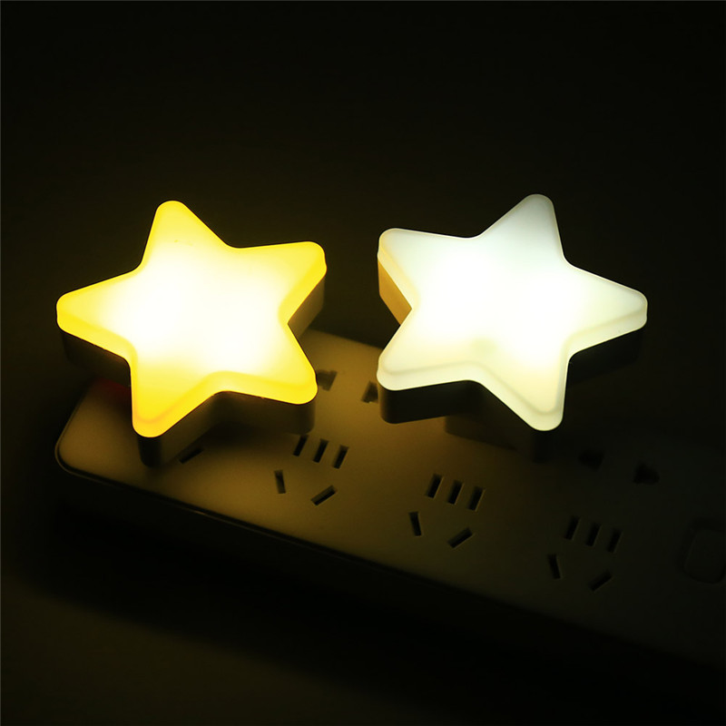 led star night light sensor wall lamp for baby children decorative bedside star projector wireless energy saving EU/US plug
