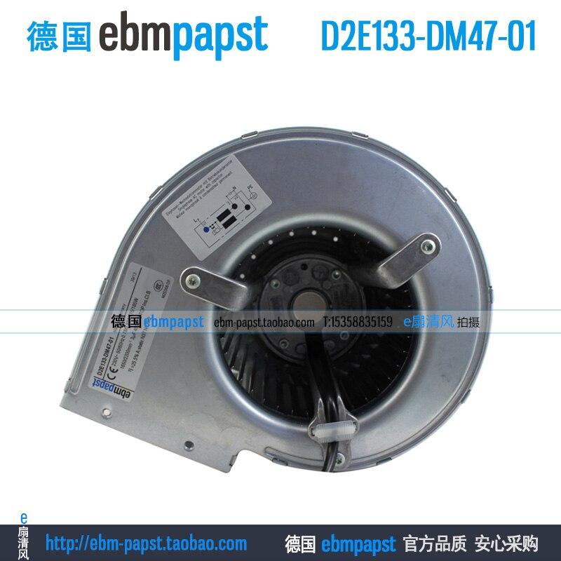 New original ebm papst D2E133-DM47-01 AC 230V 0.78A 0.82A 175W 175W 133x133mm Server Blower fan new original ebm papst iq3608 01040a02 iq3608 01040 a02 ac 220v 240v 0 07a 7w 4w 172x172mm motor fan