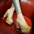 size 34-39 women fashion high heels sandals thicken heels platform sandals slippers shoes sy-1874