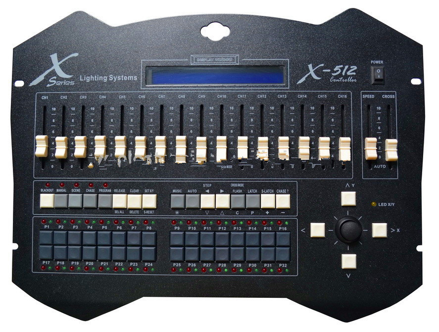 X-512A;512 channel DMX console;DMX controller dmx512 digital display 24ch dmx address controller dc5v 24v each ch max 3a 8 groups rgb controller