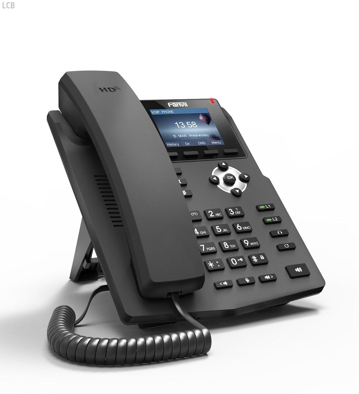 Téléphone IP Fanvil X3S téléphone SOHOIP industrie du téléphone 2 lignes SIP HD voix POE compatible casque de bureau intelligent - 2