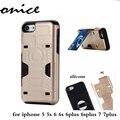 Для iPhone 6 s Plus Case Для iPhone 5SE 6 7 плюс Крышка телефона 5SE Броня Heavy Duty Прочный Пластиковый Силиконовый Держатель Карты Kickstand
