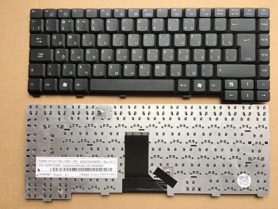Russian US Turkish UK French(Azerty) Germany Portugal Laptop Keyboard for <font><b>ASUS</b></font> A6R A6Rp A6T A6Tc A6U A3G A3N <font><b>A3000</b></font> A6000 Black image