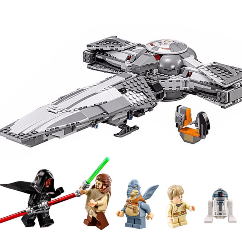 05008 698pcs Star Wars Force Awakens Infiltrator Model Building Blocks Bricks Toy for boy children Compatible Legoe 70596 LEPINE new lepin 698pcs 05008 star wars sith infiltrator figure marvel building blocks set toys compatible legoed with 7961