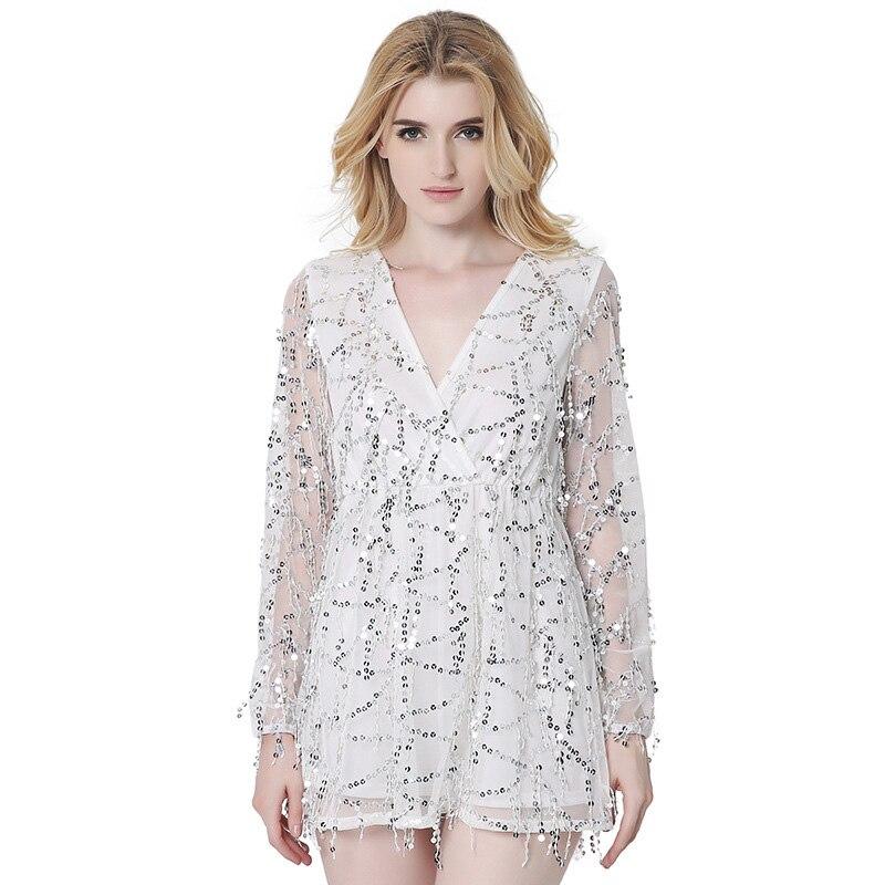 Online Get Cheap White Sequin Mini Dress -Aliexpress.com  Alibaba ...