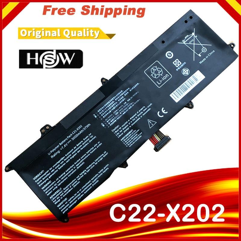 A HSW preço Especial da bateria Do Portátil para ASUS C21-X202 S200E X202E X201E S200Ls transporte rápido