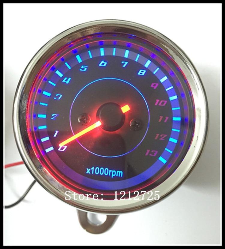 Motorkerékpár mechanikus fordulatszámmérő Refit Retro Universal típusú MOTO mérő 13000 RPM