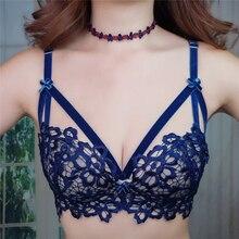 Фотография Hot 2017 Summer Female Bra & Brief Sets Push Up Lace Transparent Lingerie Bra Set Cute Bra Underwear Women Panties Set