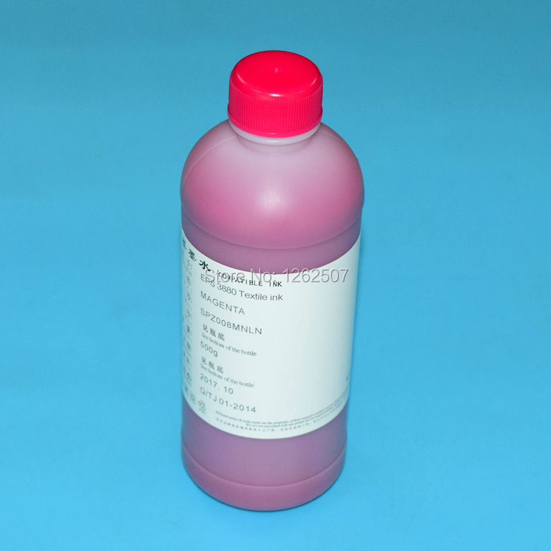 1 Bottled Magenta Textile ink For Epson 1390 R1800 R1900 R2000 7400 7600 7880 9600 9880 4800 4880 F2000 Printer Dtg Ink 5meter solvent pump ink tube for mutoh vj 1604w 1604e for epson 4400 4800 4880 7400 7450 7800 7880 9400 9450 printer