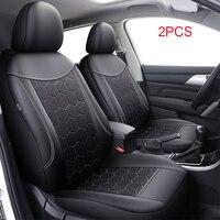 2 PCS Pu Leather Front Car Seat Cover Automobile Accessories For ford ecosport fiesta mk4 mk6 mk7 figo focus 1 2 3 mk1 mk2 mk3