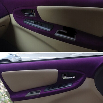 Car Stickers Decals | 60x500cm Velvet Fabric Suede Vinyl Film Car Wrap Sticker Auto Decal Car Automobiles Self-adhesive Sticker Car Stylng Accessories