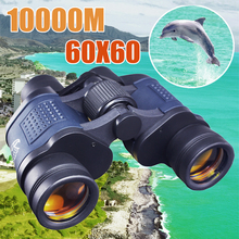 Jumelles optiques binoculaires à Vision nocturne, haute clarté de 10000M, optique Lll, haute puissance pour la chasse, le plein air, Zoom fixe, longue portée, 60x60