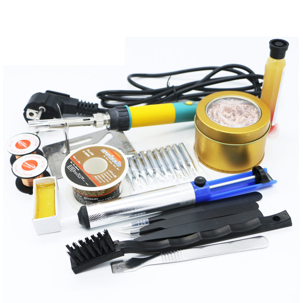 Newest 100W 220/110 EU/US CXG <font><b>936d</b></font>+Digital <font><b>LCD</b></font> Adjustable temperature Electric Soldering station Electric soldering iron image