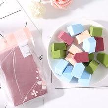 FM 10pcs Beauty Makeup Sponge Puff Foundation Wet Dry Use Powder Smooth Cosmetic Kit