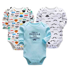 2019 Newborn bodysuit Baby boy and girl clothing long-sleeved tights one-piece autumn winter printing  baby clothes