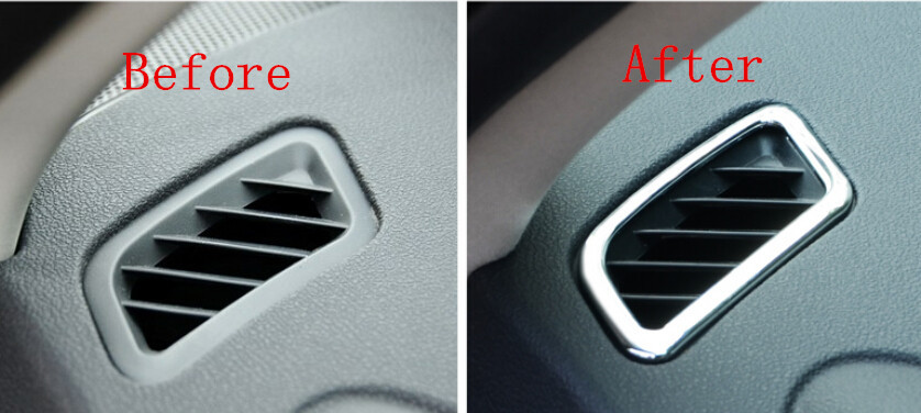 Upper Air Condition Vent Outlet Cover Trim 2pcs For Nissan Qashqai 2008 2009 2010 2011 2012