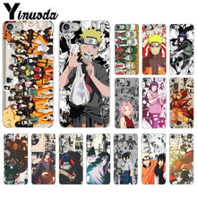 Yinuoda Relief Anime Naruto TPU Transparent Phone Case Cover Shell for iPhone 8 7 6 6S Plus 5 5S SE XR X XS MAX Coque