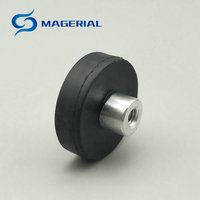 6pcs Mounting Magnetic Disc Dia 43x6 Mm LED Light Holding Spotlight Holder Male Thread NdFeB Magnet