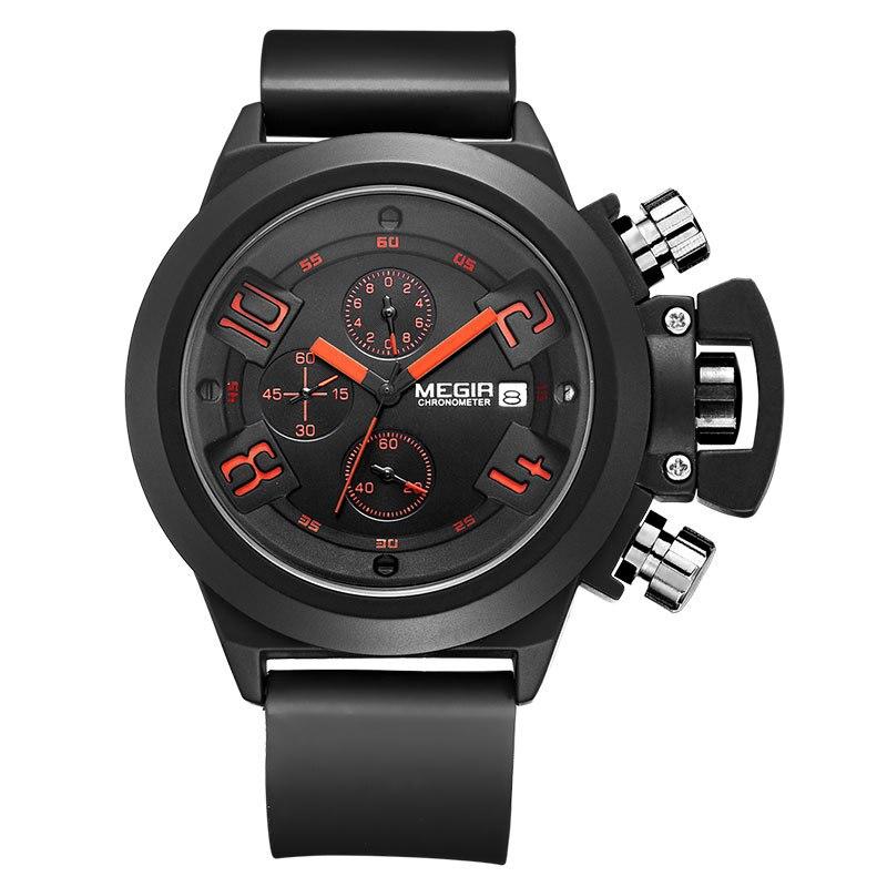 MEGIR Men Watches Calendar Fashion Casual Military Watch Quartz Luxury Brand Water Resistant Wristwatches Free Shipping
