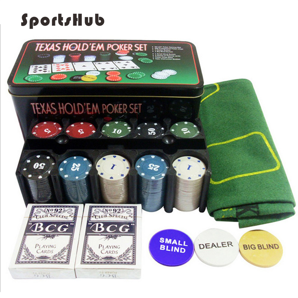 SPORTSHUB Home Casino Party Poker Game Sets With 200pcs Poker Chips And Texas Hold'em Card Funny Game Supplies EF0037
