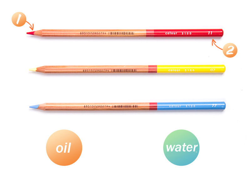 óleo-cor lápis para pintura à mão e