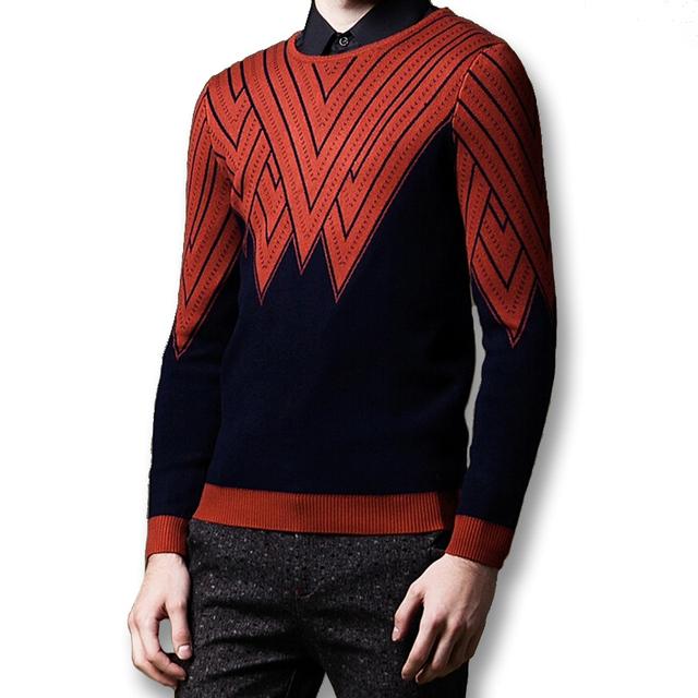 2016 Nuevos Hombres de Gran Tamaño Suéteres de Los Hombres de Moda Casual Delgado ajuste de Punto de Cuello de Manga Larga Suéteres y Jerseys Ropa masculino