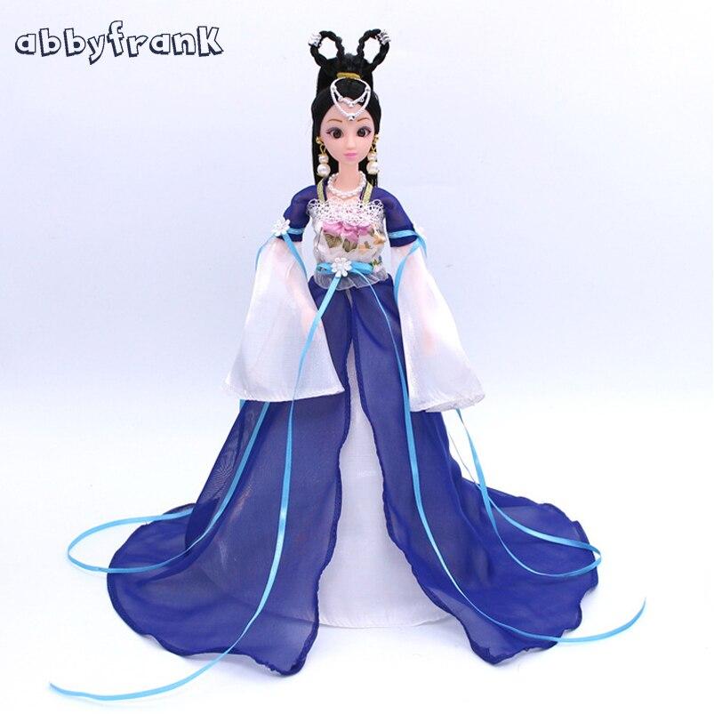 Abbyfrank игрушка кукла с шарнирно-сочлененной Куклы Средства ухода за кожей Запчасти Пластик 12 подвижные шарнирные принцессы с набором одежды ... ...