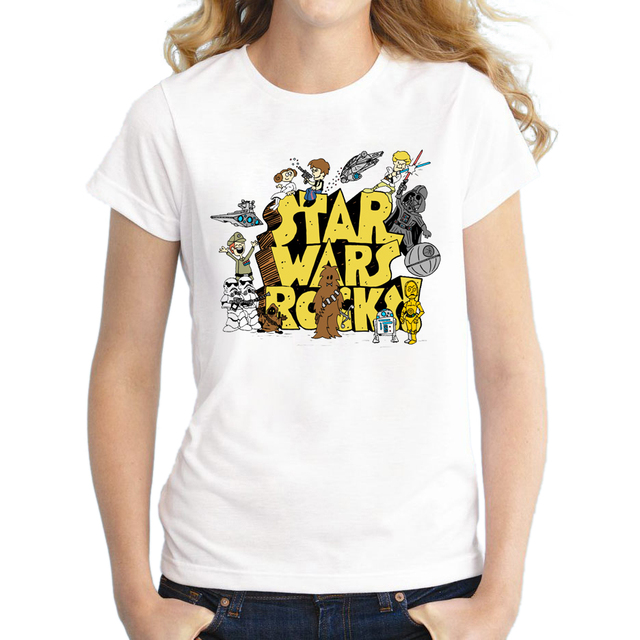 Creative Doctor Who Rocks Design 2016 Women Short Sleeve T-Shirt Star Wars Printed Lady Tops Novelty Fashion T Shirts