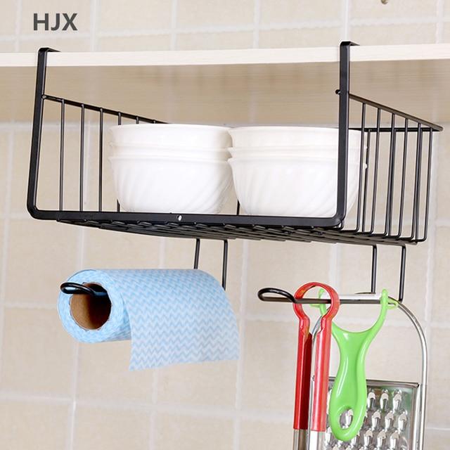 Multi Function Kitchen Shelf Organizer Bedroom Wardrobe Storage Rack Desk Hook Bathroom Hanging Basket