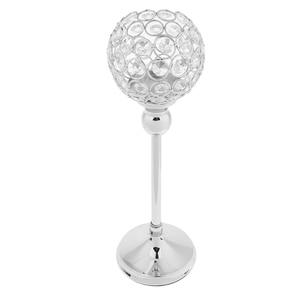 Image 4 - 2Pcs Stunning Metal Votive Tealight Crystal Candle Holder Wedding Decorative Centerpiece 35cm + 30cm Silver