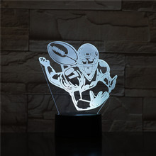 American football usb 3d led night light Brent Celek 87 Player bedroom atmosphere 7 color changing Acrylic Decoration