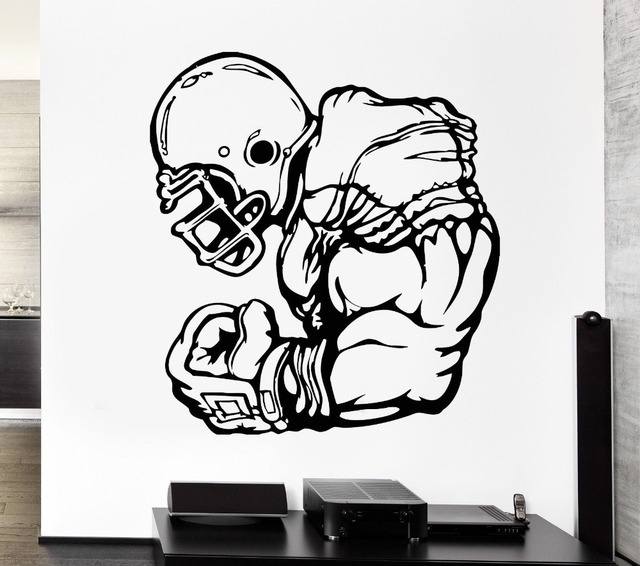 Removable Wall Decal Home Decor Living Room Football Player Athlete Sport Game Rugby Vinyl Stickers decoration adesivo NY-211