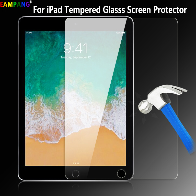 Verre trempé pour iPad 2/3/4 Air 1 2 Pro 9.7 11 10.5 9.7 2017 2018 Pro 12.9 2015 2017 10.2 2019 mini 2 3 4 5 Protecteur D'écran