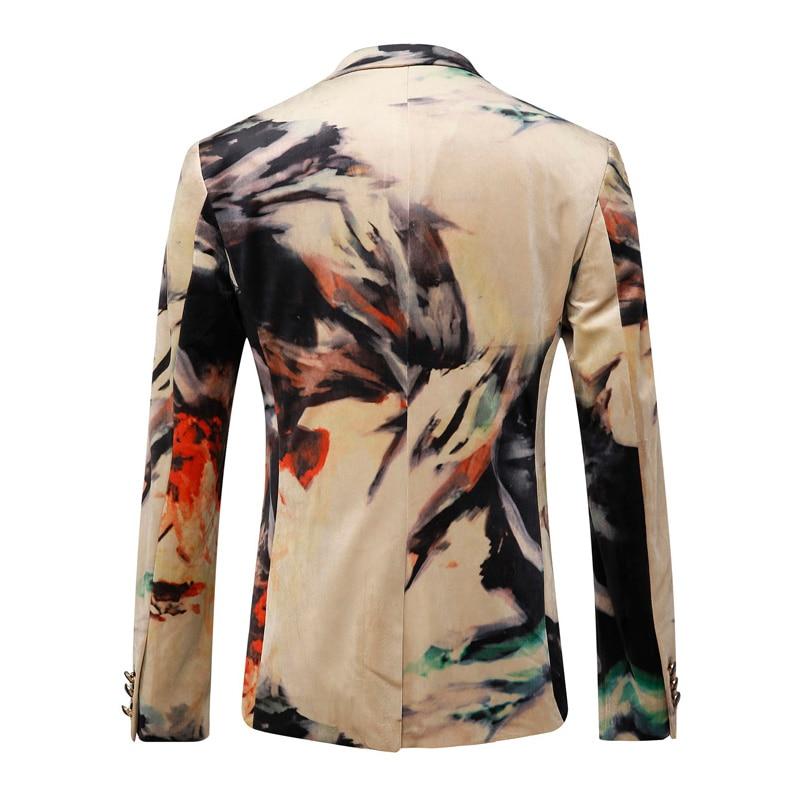 e19590722ab Plyesxale Men Blazer 2018 Luxury Designer Colorful Mens Blazer Jacket  Italian Stylish Fancy Suit Jacket Brand Prom Blazers Q202-in Blazers from  Men s ...