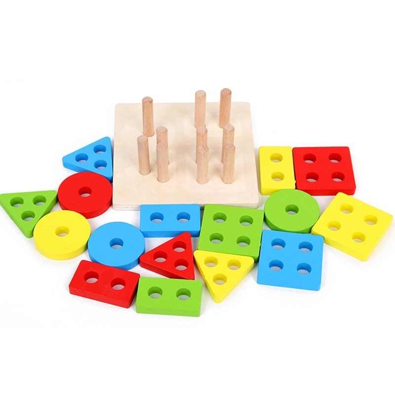 Đồ Chơi Giáo Dục Bằng Gỗ Nhiều Màu Sắc Hình Học Phân Loại Ban Montessori Giáo Dục Trẻ Em Đồ Chơi Xếp Chồng Xây Dựng Đồ Chơi Xếp Hình Trẻ Em Quà Tặng