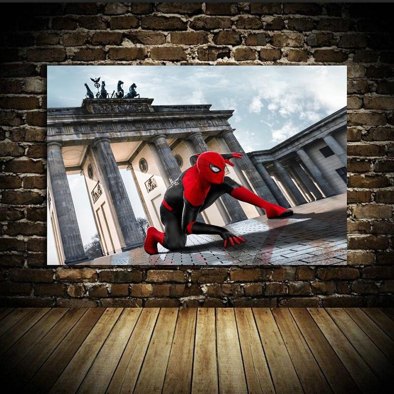 Spider-Man: Far From Home (2019) Avengers: Endgame iron Man Movie Poster Home Decor Wall Decor Wall Art Canvas Print A11