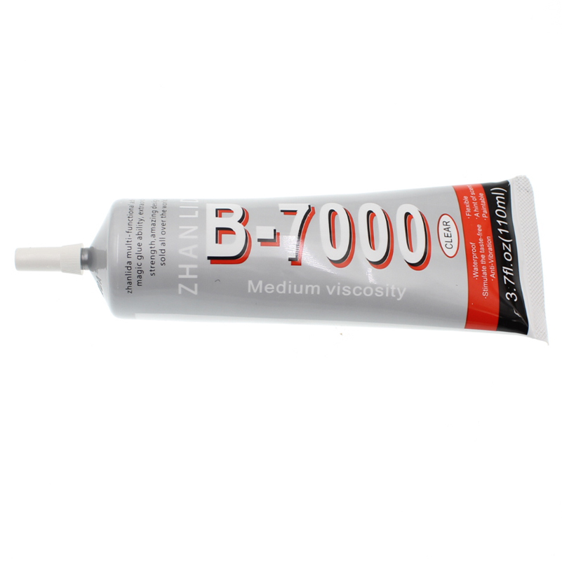 110ML Super B7000 Industrial Glue Liquid Metal Rubber Phone Touch Screen B-7000 Adhesive Clear Fabric Wood Lcd Epoxy Resin Bond