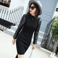 Spring Autumn New Korean Slim Long Dress High Collar Was Thin Pullover Women S Sweater Thickened