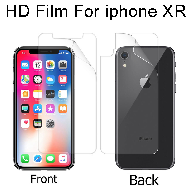 Front Back Glossy Film For Apple Iphone Xs Max Xs Xr A1921 A1920 A1984 Matte Film Anti Glare Screen Protector Film Cloth In Phone Screen