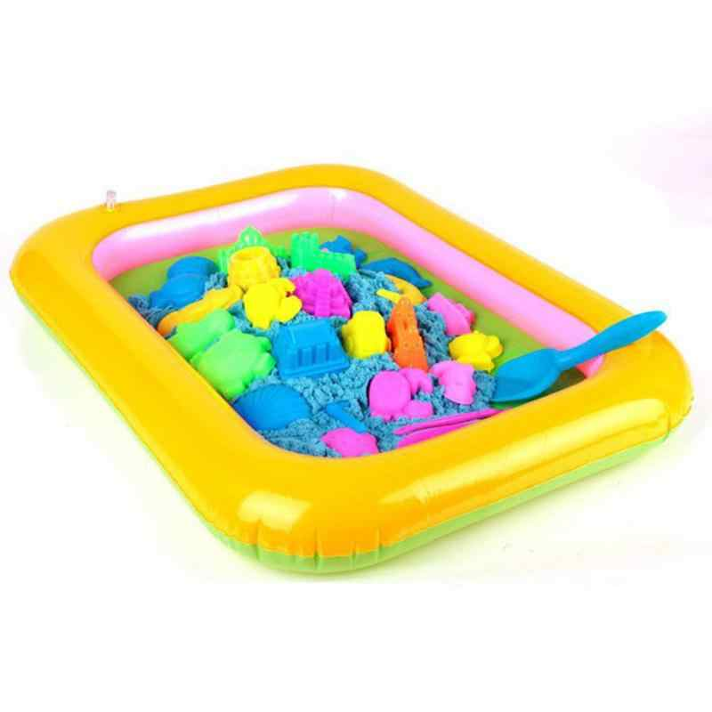 Inflatable Sand Tray Plastic Mobile Table For Children Kids Indoor Playing Sand Clay Color Mud Toys Accessories