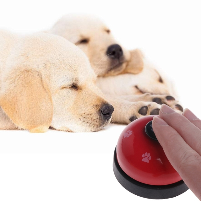 Pet Training Bell Dogs Footprint Puppy Cats Dinner Feeding Door Ring Interactive 1