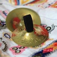 1 Pair SAROYAN Nefertiti Women Belly Dance Accessories Finger Cymbals BRASS Belly Dance Zills