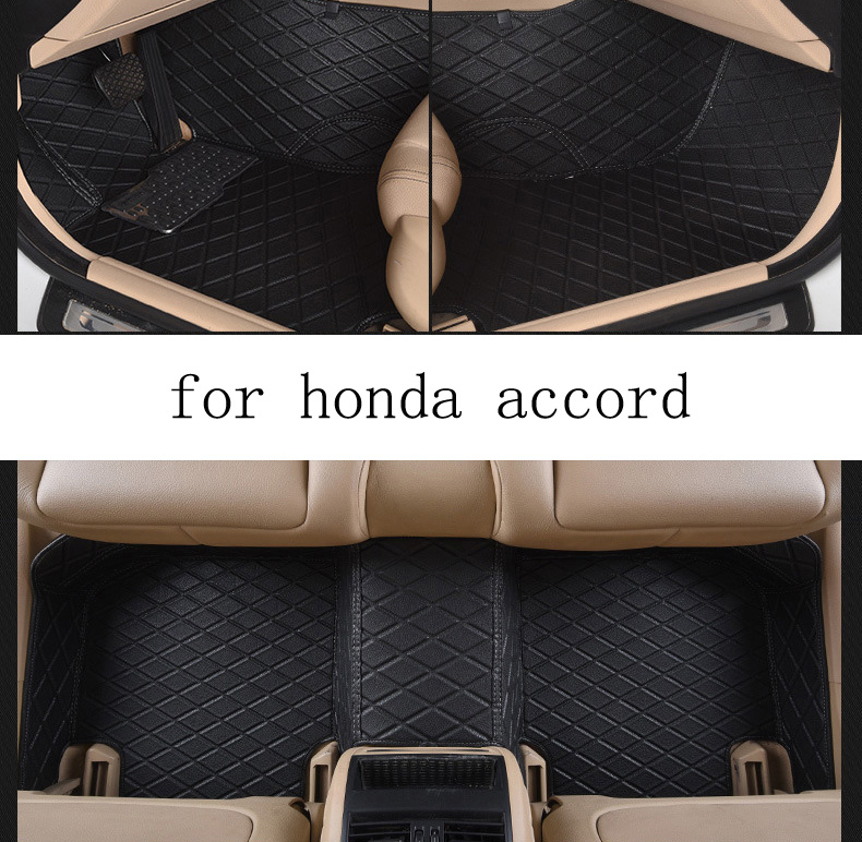 for Honda accord brand leather Wear-resisting customize Car floor mats black grey brown Non-slip waterproof 3D car floor Carpets for porsche cayenne brand leather wear resisting customize car floor mats black grey brown non slip waterproof car floor carpets