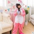 Retail Nuevo Bebé Pijamas niños Niñas Niños Otoño Invierno Animal divertido animal Pijamas de Franela Niño Ropa de Dormir 3-12 años chándal