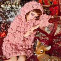 2017 donne reali maglie e maglioni e pullover magia grand autunno nuova bambola principessa openwork fiore del gancio profilo lanterna maglione del manicotto
