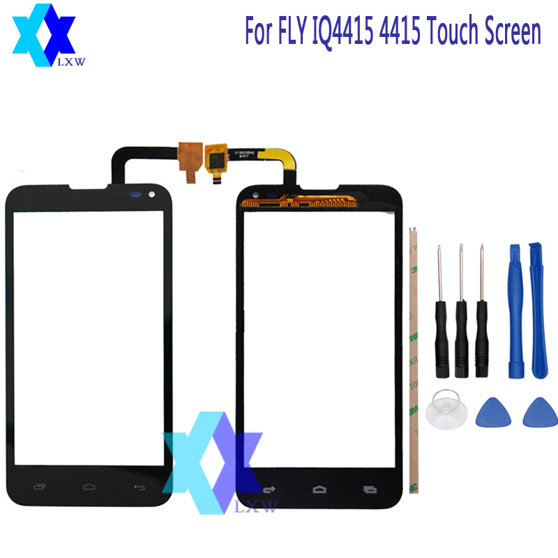 For Fly IQ4415 IQ 4415 Quad Era Style 3 Touch Screen Glass Original New Glass Panel Touch Screen 4.5 inch Tools+Adhesive Stock