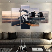 Back To The Future Time Car Painting Home Decor Picture Canvas Wall Art For Living Room Wall Art Canvas Painting HD Print цена 2017