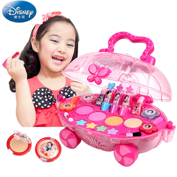disney pretend play beauty fashion toys frozen child cosmetic set girl toy makeup box house eye shadow blush for kids gift Disney Princess Child Makeup Set Girl Performance Cosmetics House Eyeshadow Makeup Car Toy pretend play cosmetic set for kid