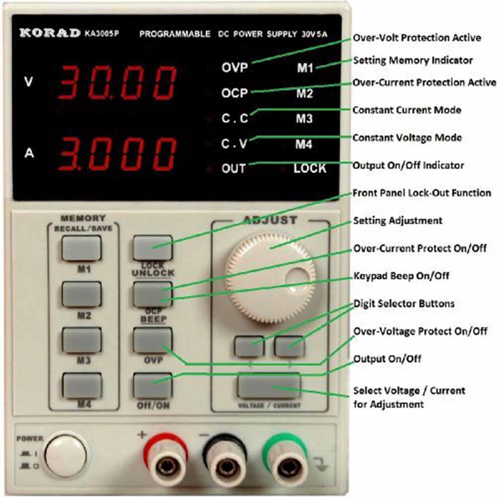 30 V/5A KA3005P ue programowalny precyzja regulowany DC zasilacz liniowy cyfrowy regulowany laboratorium klasy z USB i oprogramowania
